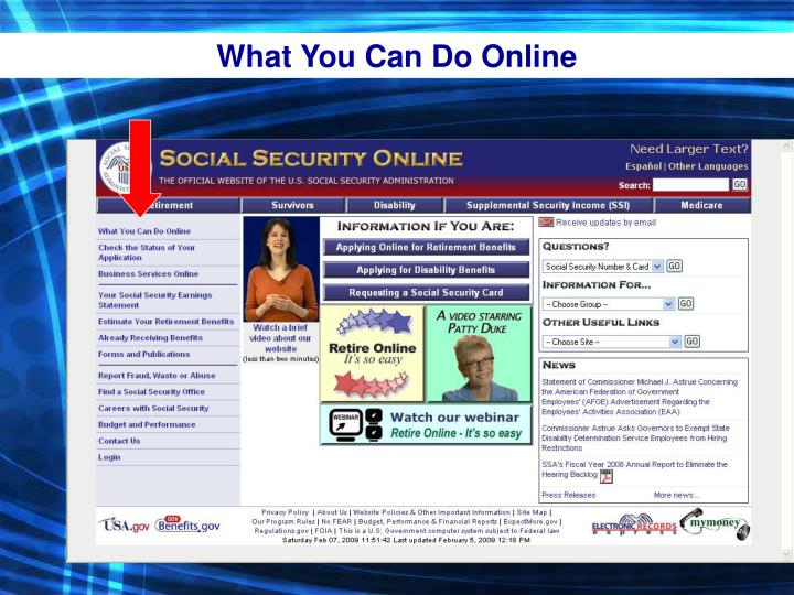 What You Can Do Online