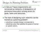 design as planning problem