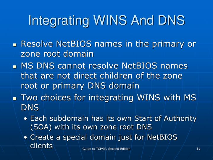 Integrating WINS And DNS