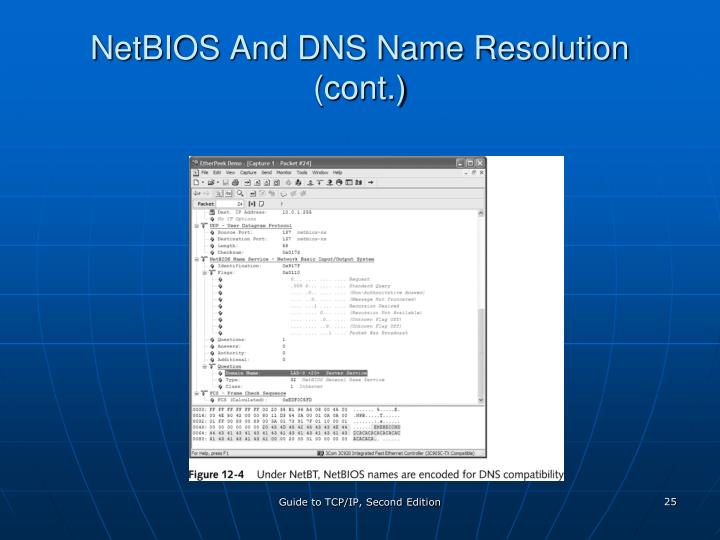 NetBIOS And DNS Name Resolution (cont.)