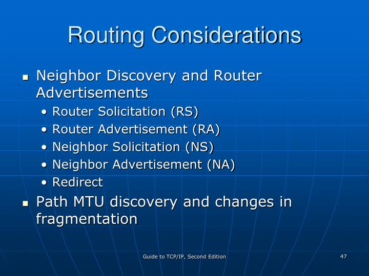 Routing Considerations