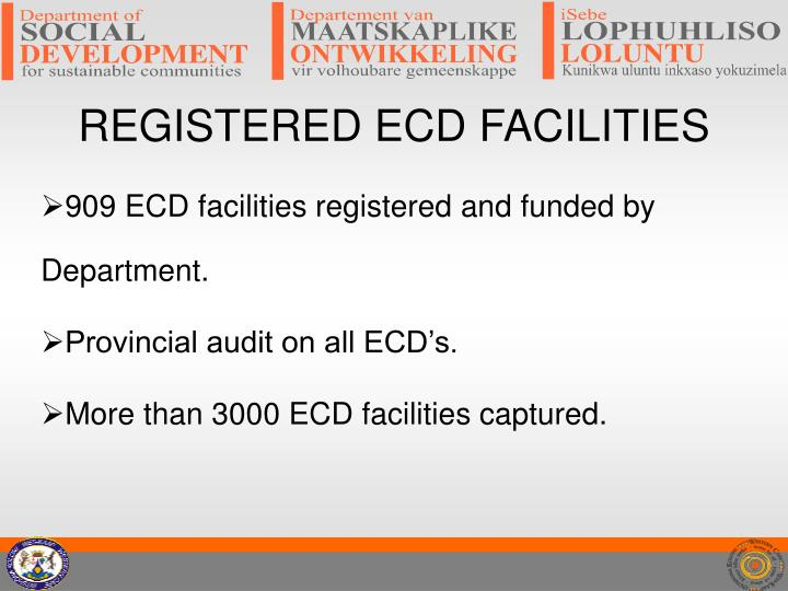Registered ecd facilities