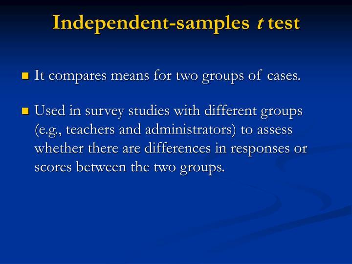 Independent-samples