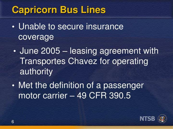 Capricorn Bus