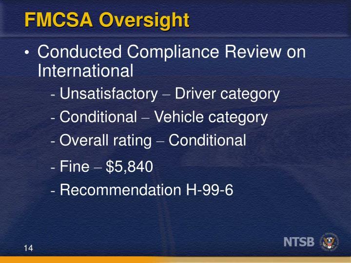 FMCSA Oversight
