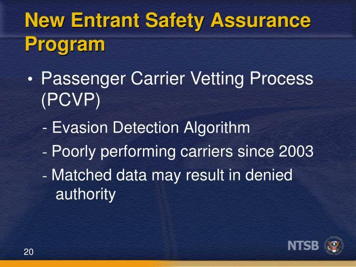 New Entrant Safety Assurance Program