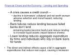 financial crises and the economy lending and spending