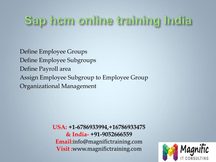 S ap hcm online training india