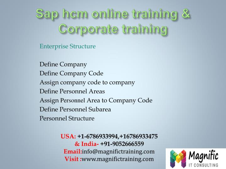 Sap hcm online training corporate training
