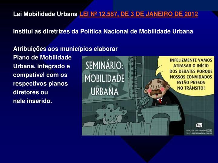 Lei Mobilidade Urbana