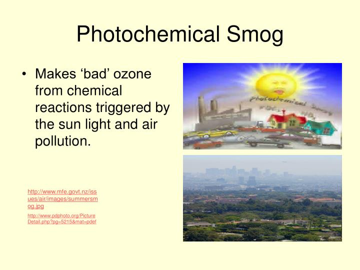 advantage of photochemical smog The evolution of catalytic converters pollution was photochemical smog and low-level ozone caused the automotive industry was able to take advantage.