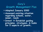 cary s growth management plan