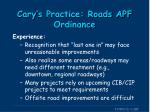 cary s practice roads apf ordinance3
