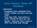 cary s practice roads apf ordinance4