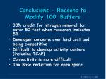 conclusions reasons to modify 100 buffers