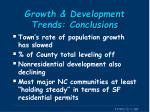 growth development trends conclusions
