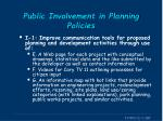 public involvement in planning policies1