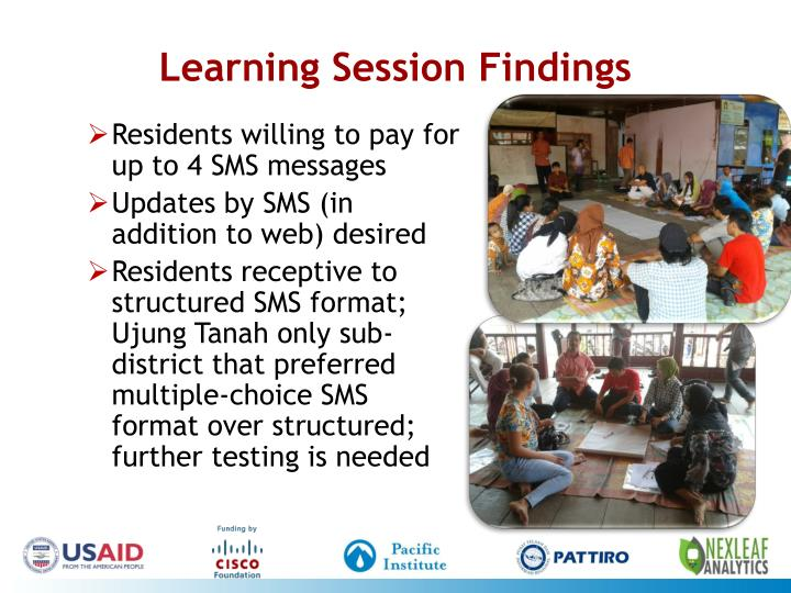Learning Session Findings
