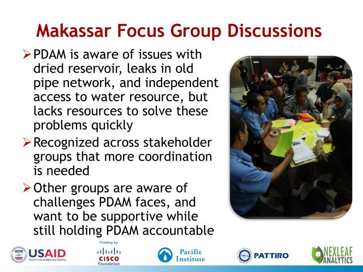 Makassar Focus Group Discussions