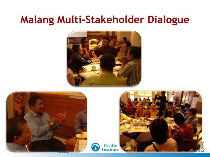 Malang Multi-Stakeholder Dialogue