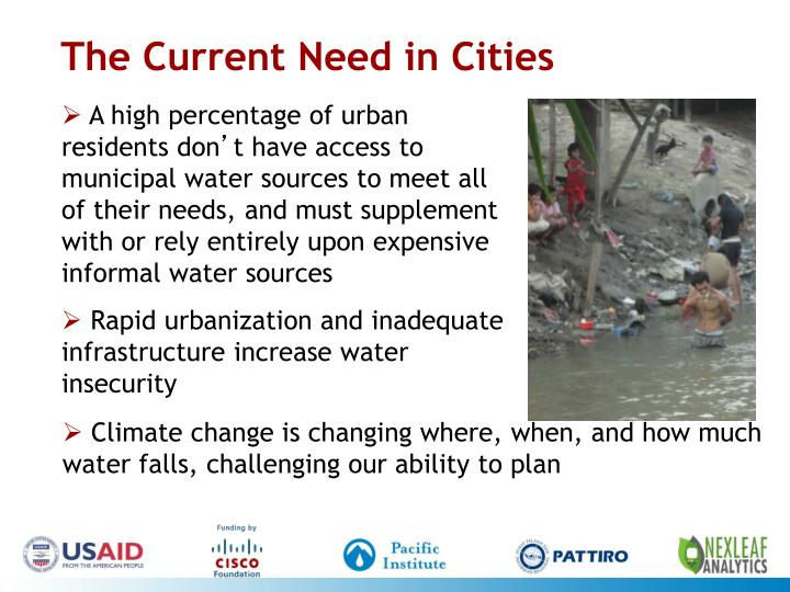 The Current Need in Cities