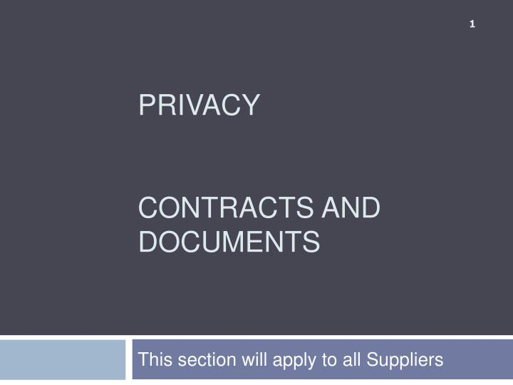 privacy contracts and documents n.