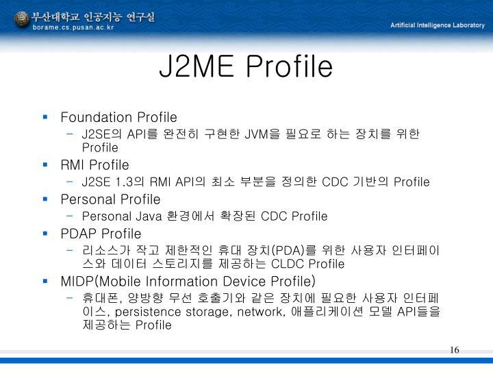 J2ME Profile