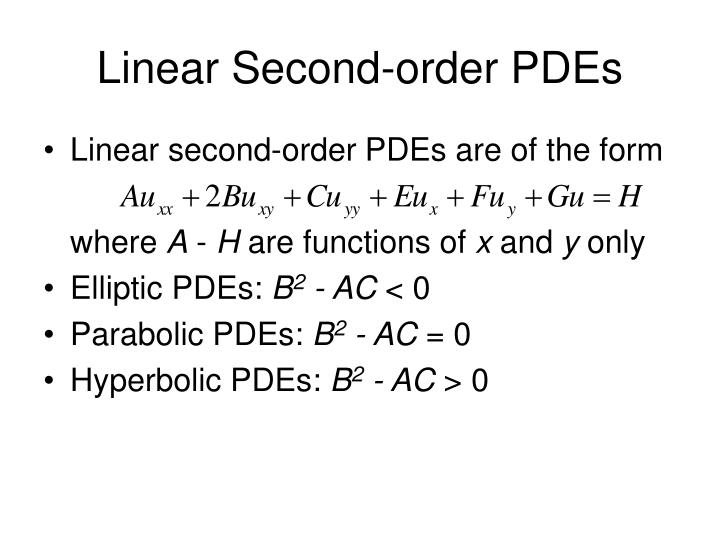 Linear Second-order PDEs