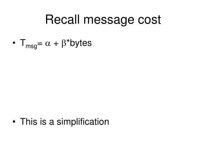 Recall message cost