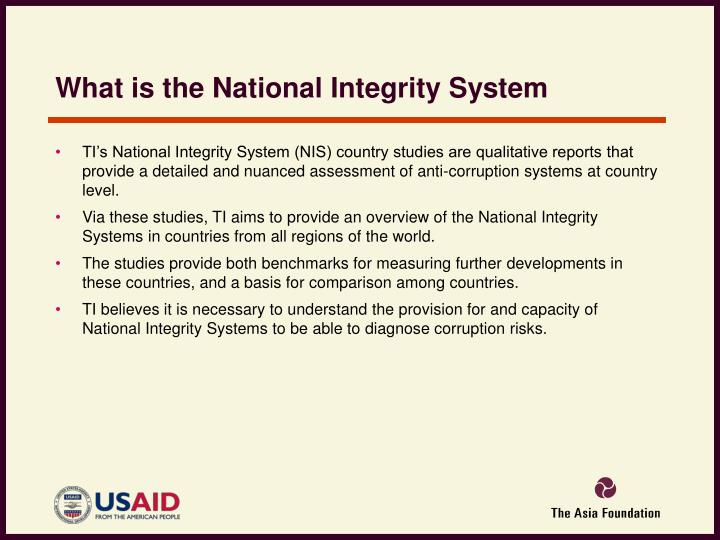 What is the National Integrity System