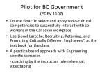 pilot for bc government pdev 11073