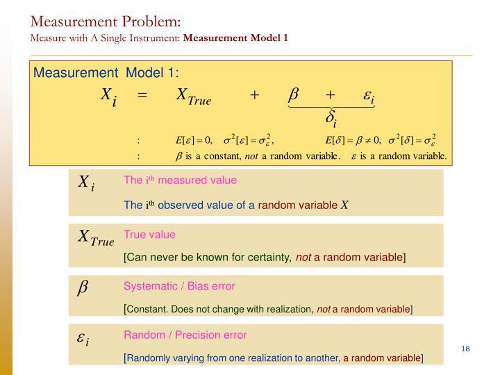 Measurement  Model 1: