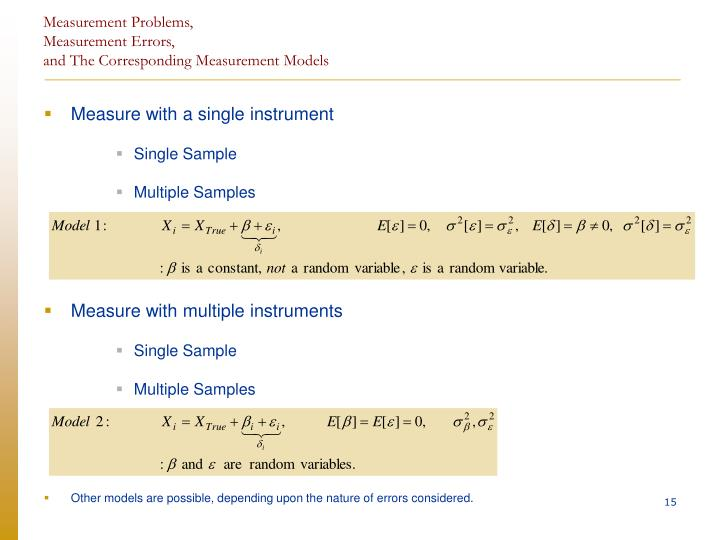 Measurement Problems,
