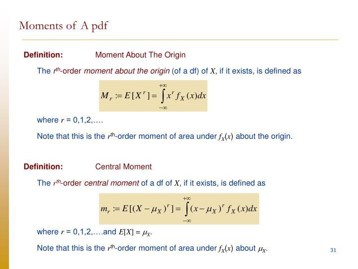 Moments of A pdf