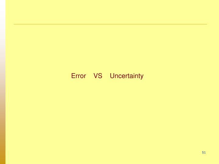 Error    VS    Uncertainty