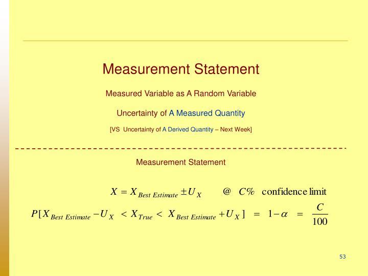 Measurement Statement