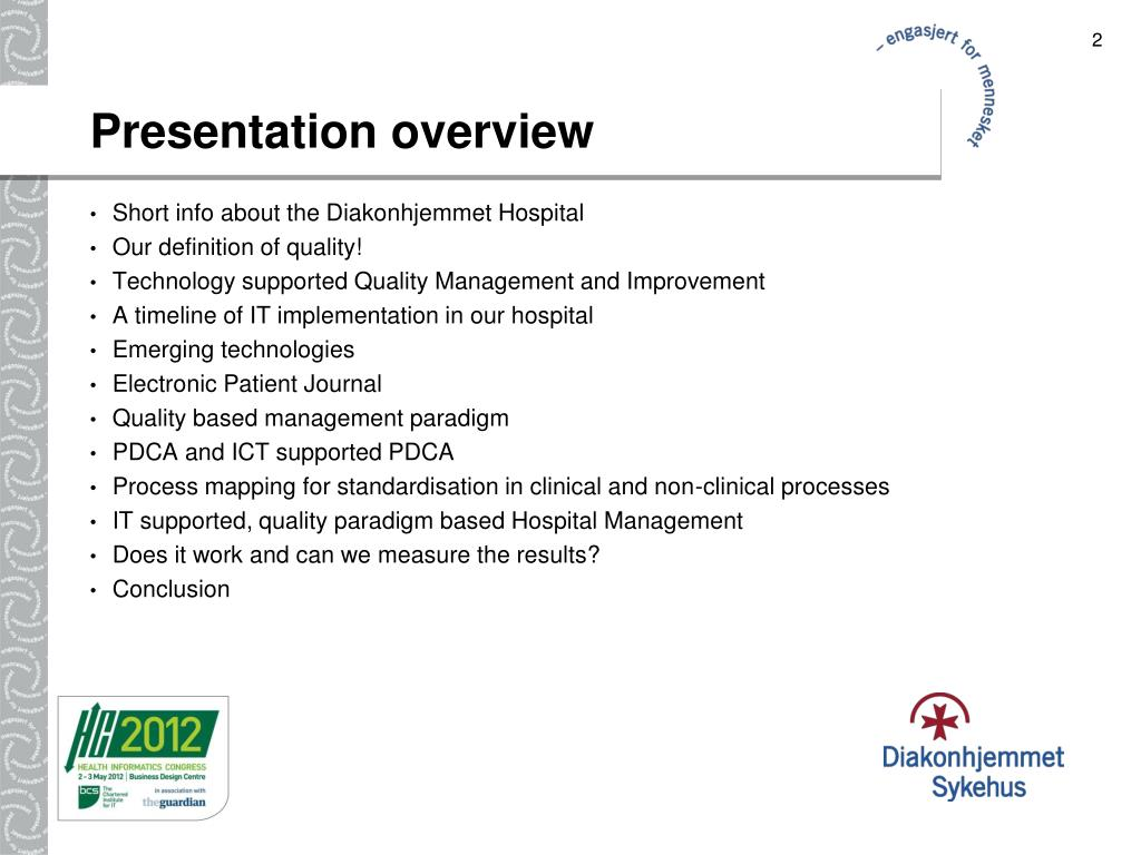 PPT - Quality Management in a Norwegian Hospital PowerPoint