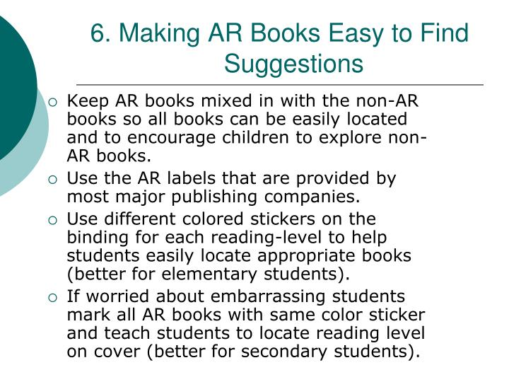 6. Making AR Books Easy to Find