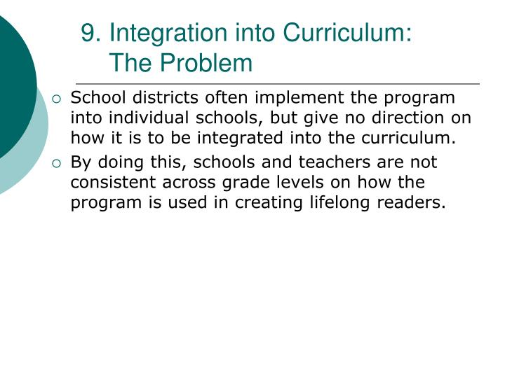 9. Integration into Curriculum: