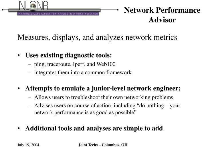 Network performance advisor1