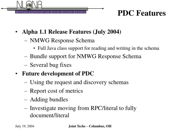 PDC Features