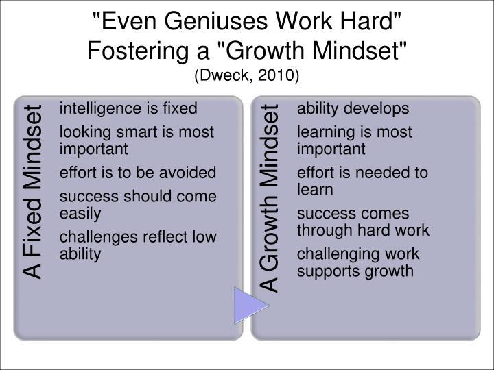 """Even Geniuses Work Hard"""