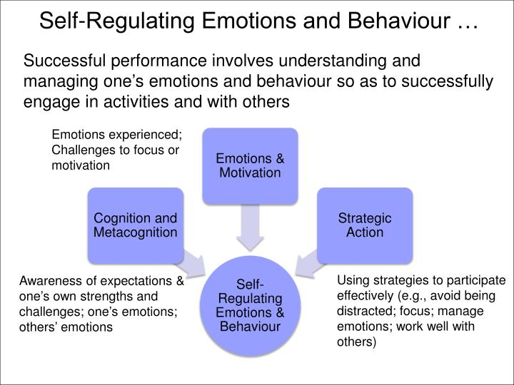 Self-Regulating Emotions and Behaviour …