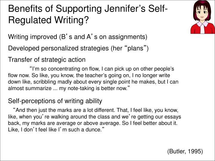 Benefits of Supporting Jennifer