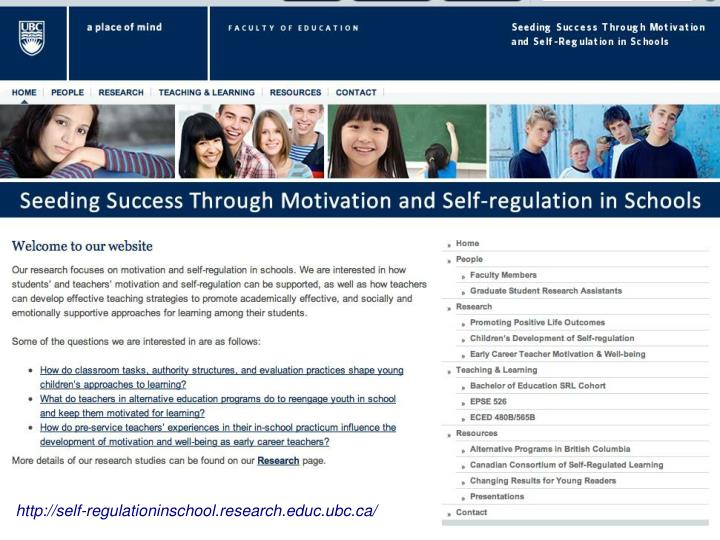 http://self-regulationinschool.research.educ.ubc.ca/