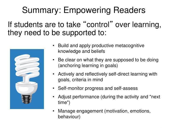 Summary: Empowering Readers