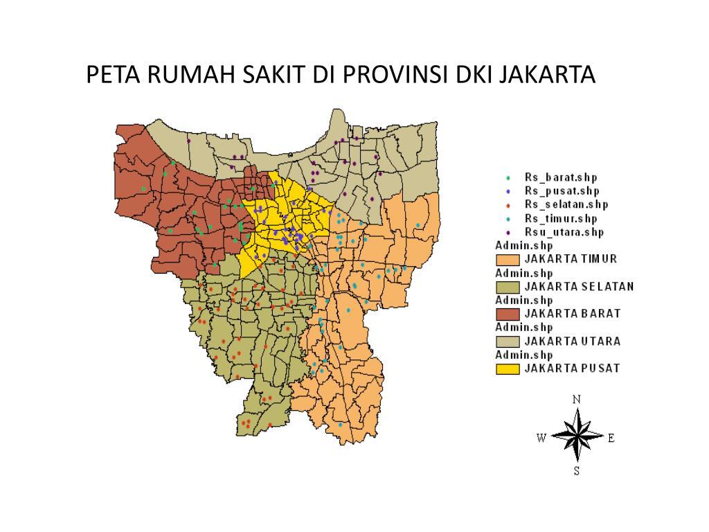 Ppt Peta Rumah Sakit Di Provinsi Dki Jakarta Powerpoint