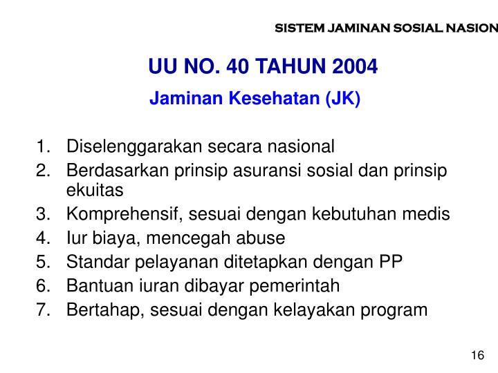 UU NO. 40 TAHUN 2004