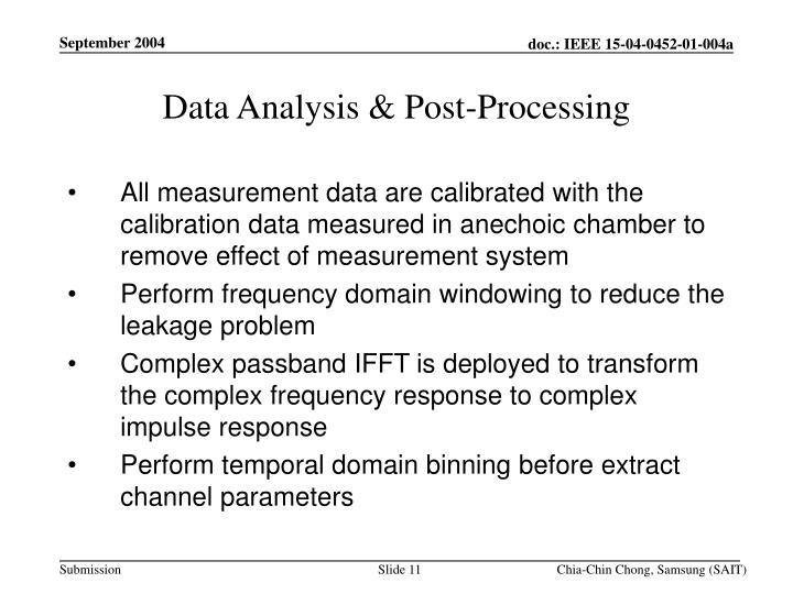 Data Analysis & Post-Processing