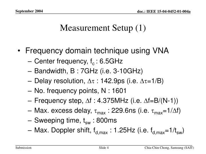 Measurement Setup (1)